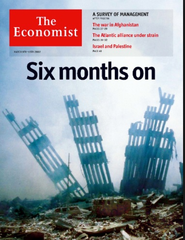 The Economist, March 9, 2002. Photograph: AP